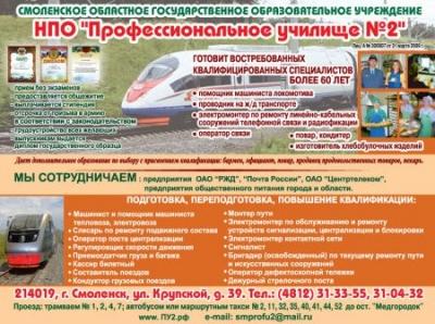Профессиональное училище №2, СОГОУ НПО